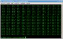 Consola con la salida de los códigos ASCII